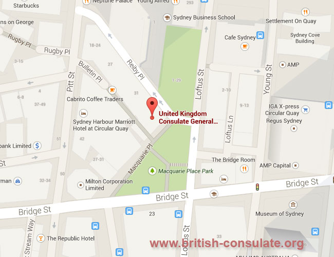 British Consulate in Sydney, Australia