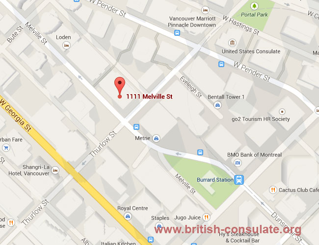 British Consulate in Vancouver
