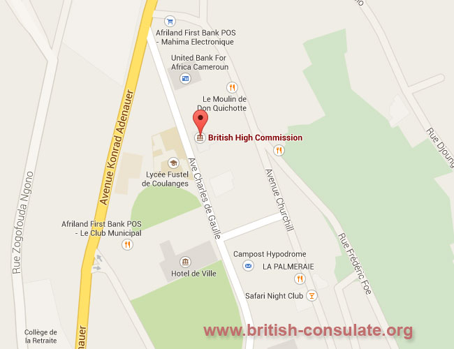 British High Commission in Yaounde, Cameroon