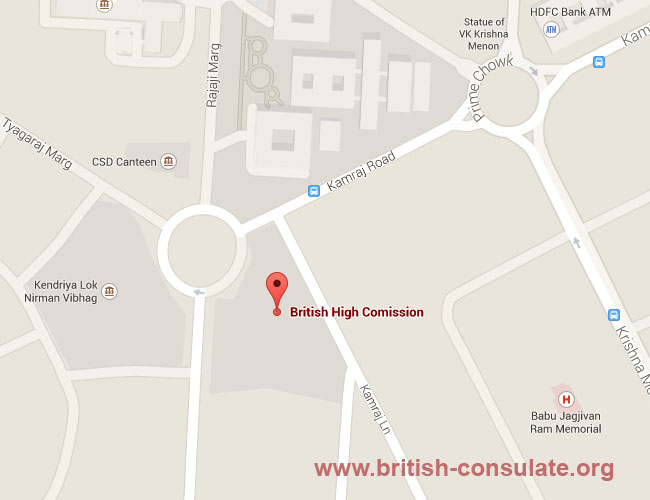 British High Commission in New Delhi, India