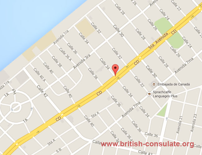 British Embassy in Cuba