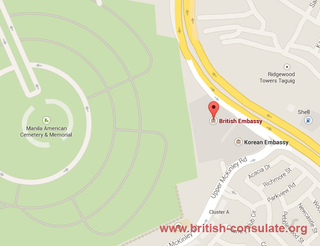 British Embassy Manila British Consulate - Us embassy manila map