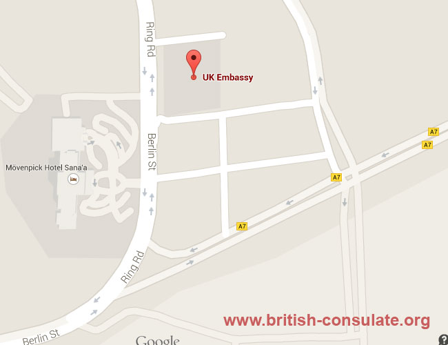 British Embassy In Yemen British Consulate - Us embassy in yemen map