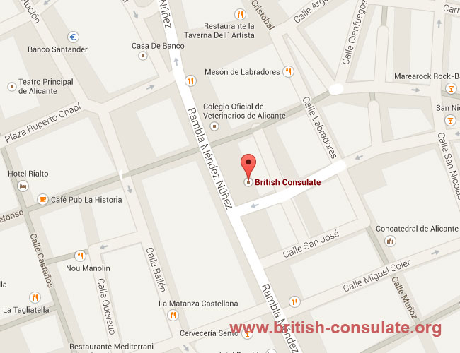 British Consulate in Alicante