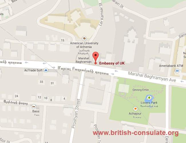 British Embassy in Armenia
