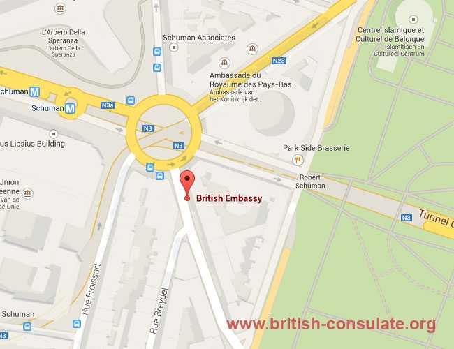 British Embassy in Belgium