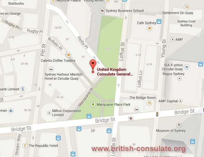 British Consulate in Sydney, Australia