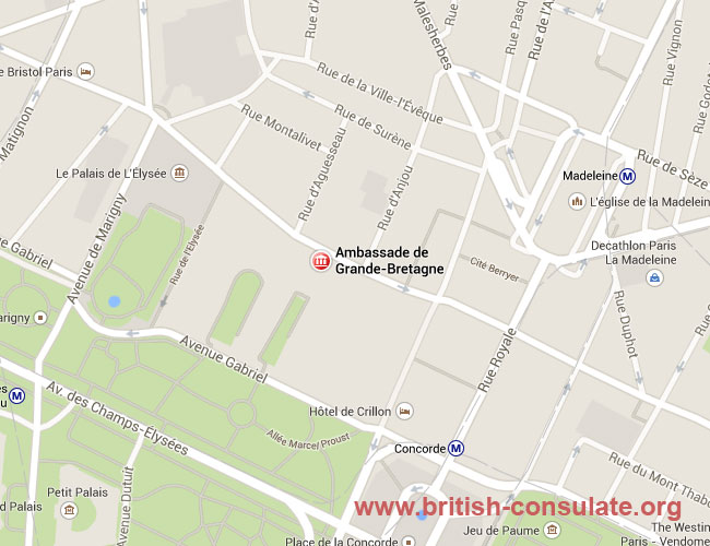 British Embassy in Paris, France