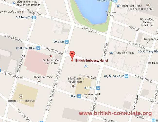 British Embassy in Hanoi Vietnam