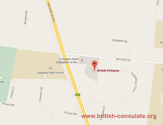 British Embassy In Zimbabwe British Consulate