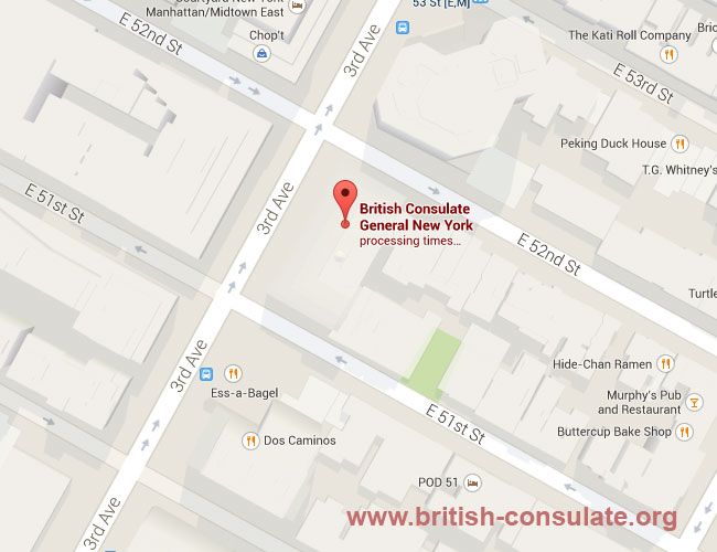 British Consulate-General in New York, United States