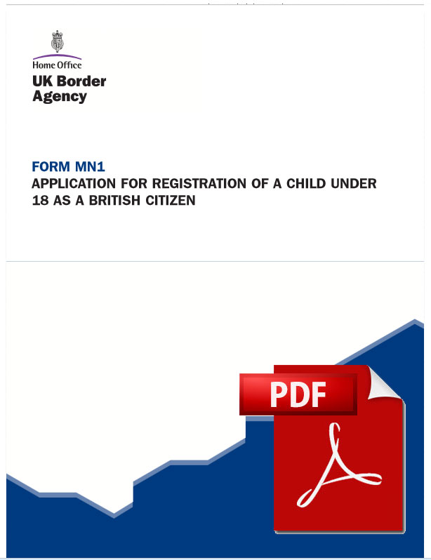 British Citizenship Registration Application Form, Birth Registration Form Pamphlet British Born Abroad, British Citizenship Registration Application Form