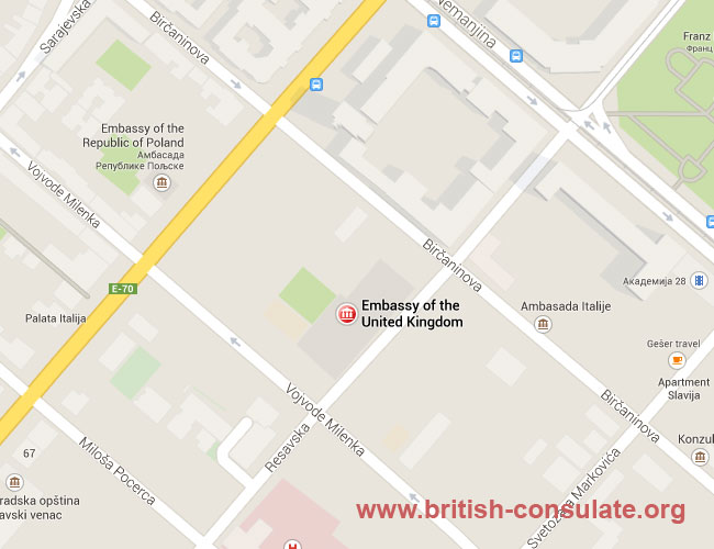 British Embassy in Serbia