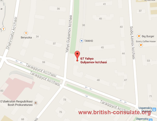 British Embassy in Uzbekistan