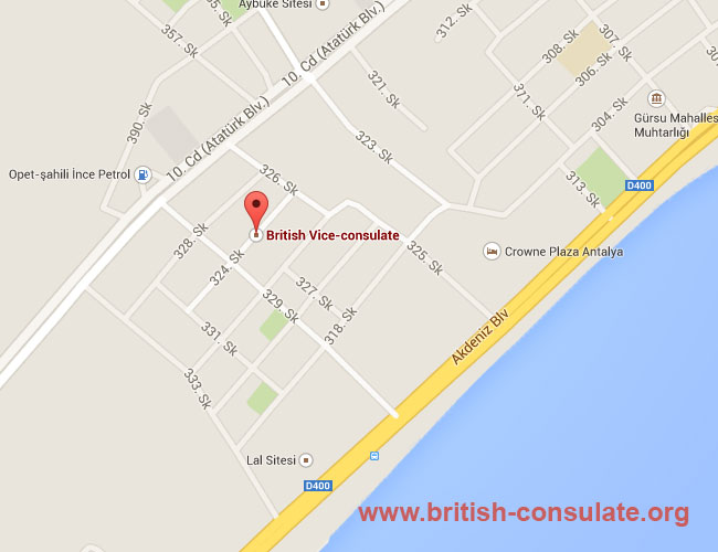British Consulate Antalya Turkey