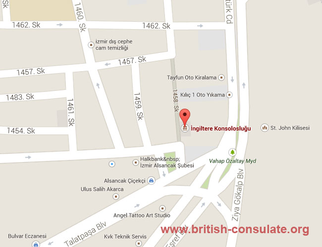 British Consulate Izmir Turkey